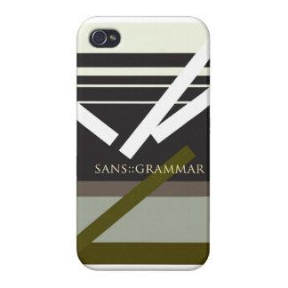 """""""Sin la gramática """" iPhone 4/4S Funda"""