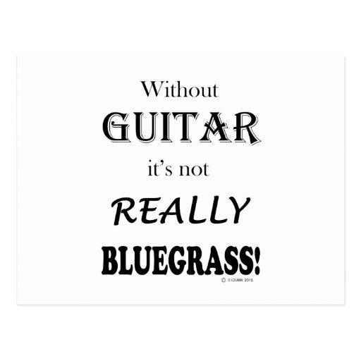 Sin la guitarra - Bluegrass Tarjeta Postal