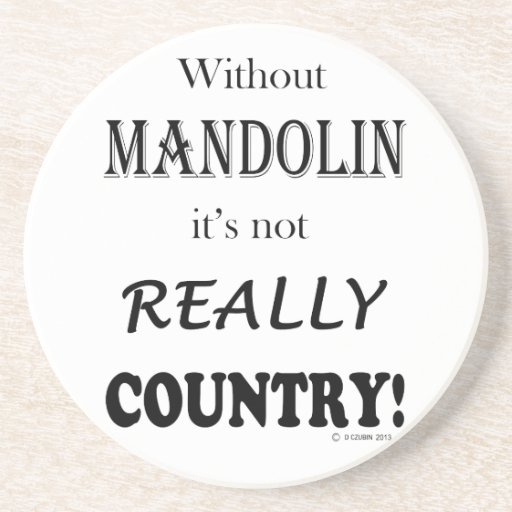 Sin la mandolina - país posavasos diseño