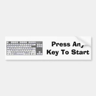 Sin llave pegatina para auto