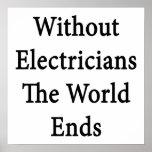 Sin los electricistas los extremos del mundo posters