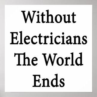 Sin los electricistas los extremos del mundo póster