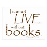 Sin los libros postal