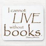 Sin los libros tapete de ratón