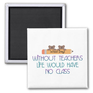 Sin los profesores imán cuadrado