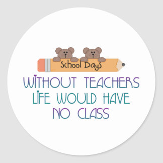 Sin los profesores pegatina redonda