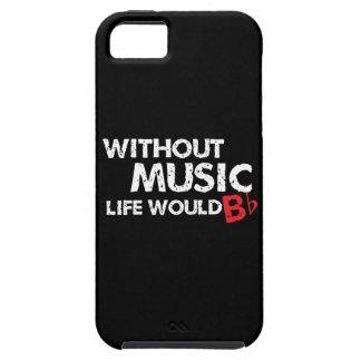 ¡Sin música, la vida b plano! iPhone 5 Case-Mate Carcasas