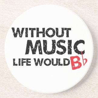 Sin música, la vida B plano Posavasos Personalizados