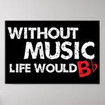 ¡Sin música, la vida b plano! Póster