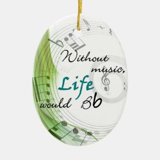 Sin música, la vida Bb Adorno De Navidad