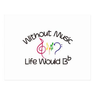 Sin música postales