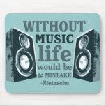 Sin música… tapetes de ratones