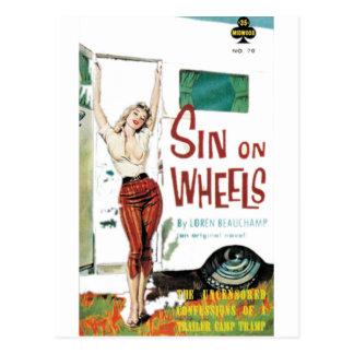 Sin On Wheels Pulp Fiction Post Card