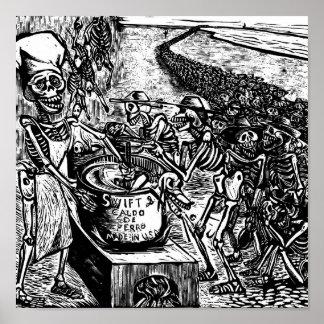"""""""Sin pan, tierra, o dinero, el trabajador huye Impresiones"""