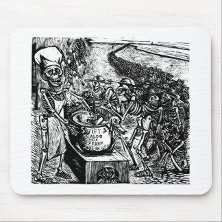 """""""Sin pan, tierra, o dinero, el trabajador huye Alfombrilla De Ratón"""