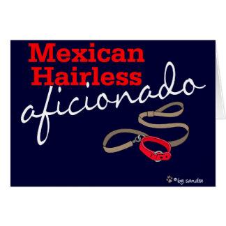 Sin pelo mexicano tarjeta de felicitación