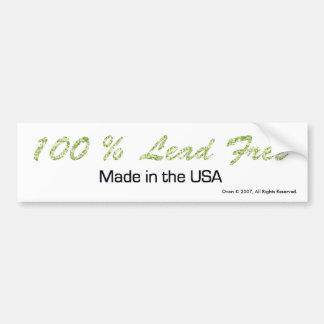SIN PLOMO del 100 hecha en pegatina para el parac Etiqueta De Parachoque