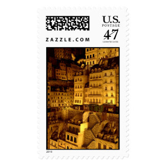 Sin ratón timbre postal
