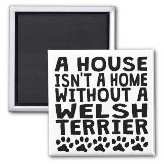 Sin Terrier galés Imán Cuadrado