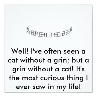 ¡Sin título, bien! He visto a menudo un gato sin… Invitación 13,3 Cm X 13,3cm