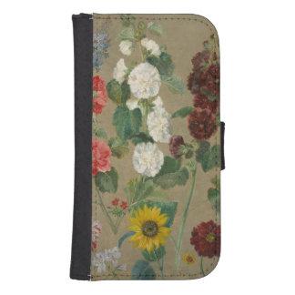 Sin título (flores) (aceite a bordo) billetera para teléfono