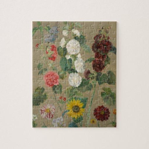 Sin título (flores) (aceite a bordo) puzzles