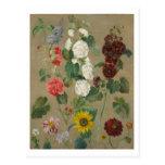 Sin título (flores) (aceite a bordo) tarjeta postal