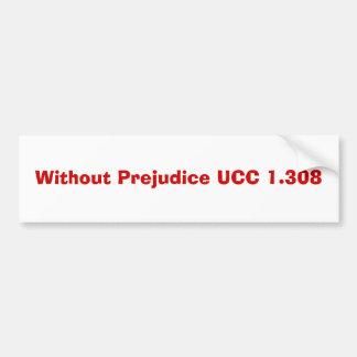 Sin UCC 1,308 del perjuicio Pegatina De Parachoque