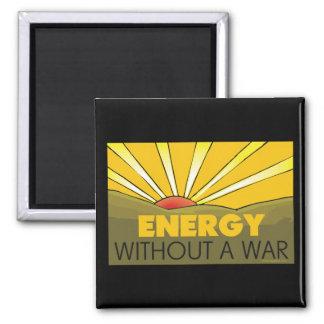 Sin una guerra solar imán cuadrado