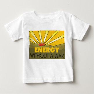 Sin una guerra solar playera de bebé