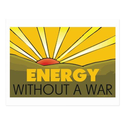 Sin una guerra solar postal