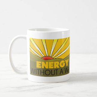 Sin una guerra solar taza básica blanca