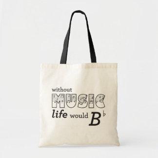 Sin vida de la música B-plano Bolsa Tela Barata