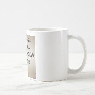 Sin vida de la música b plano taza de café