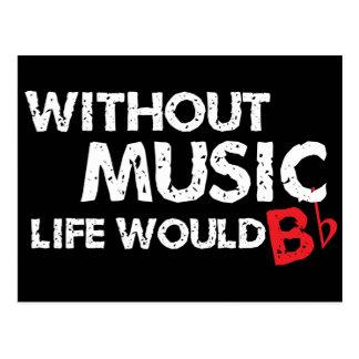 Sin vida de la música B (sea) plano Tarjetas Postales