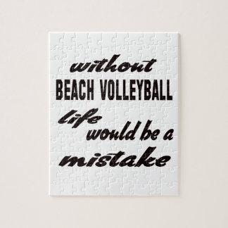 Sin voleibol de playa la vida sería un error rompecabezas con fotos