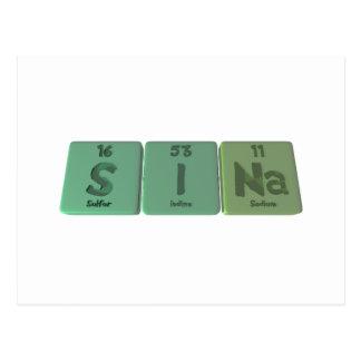 Sina as Sulfur Iodine Sodium Post Cards