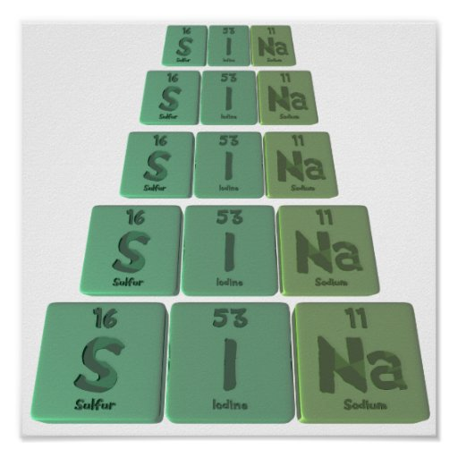 Sina as Sulfur Iodine Sodium Posters