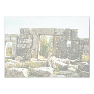 Sinagoga antigua (desde adentro), Meron, Israel Invitación 12,7 X 17,8 Cm