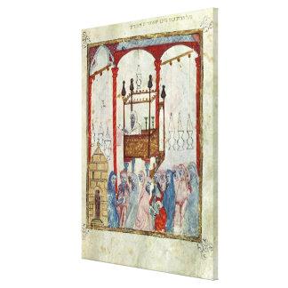 Sinagoga, c.1350, España septentrional Impresión En Lienzo Estirada