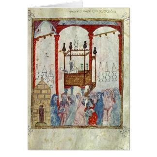 Sinagoga, c.1350, España septentrional Tarjeta De Felicitación