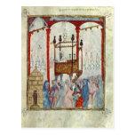 Sinagoga, c.1350, España septentrional Tarjetas Postales