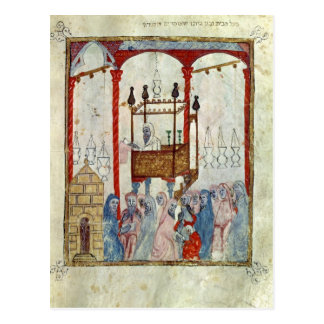Sinagoga, c.1350, España septentrional Tarjeta Postal