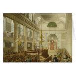 Sinagoga, duques Place, Houndsditch, de Ackerman Tarjeta
