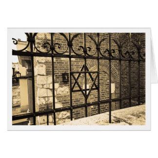 Sinagoga en Kazimierz Tarjeta De Felicitación