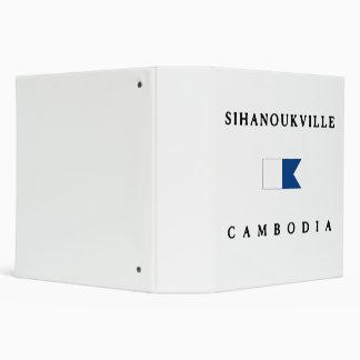 Sinahoukville Cambodia Alpha Dive Flag Vinyl Binders