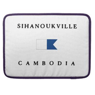 Sinahoukville Cambodia Alpha Dive Flag MacBook Pro Sleeve