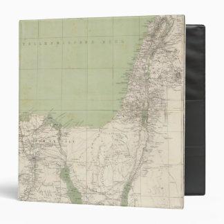Sinai, Egypt, Syria Atlas Map 3 Ring Binder