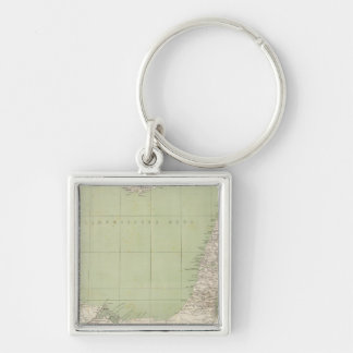 Sinai, Egypt, Syria Atlas Map Keychain