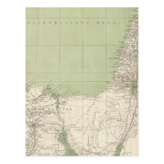 Sinai Egypt Syria Atlas Map Postcard Zazzle Com